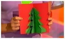 finger tips 3d tree card