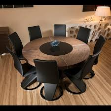 Round Dining Table For - Black dining table for 8
