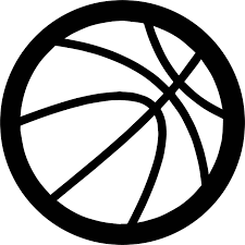 bold outline basketball ball coloring page wecoloringpage