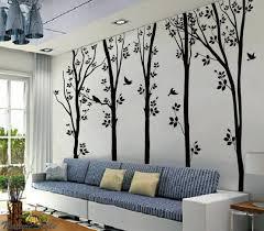 5 birches tree with flying birds wall sticker u2013 wallstickerdeal com
