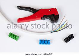 colorful electrical cables with connectors stock photo royalty