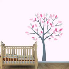 Removable Nursery Wall Decals Pink And Grey Nursery Tree Decals For Rooms