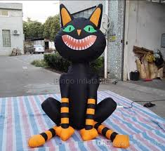 2018 2m inflatable halloween black cat halloween inflatables from