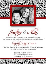 red and black wedding invitations template best template collection