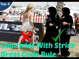 5 countries with very strict dress codes policy youtube