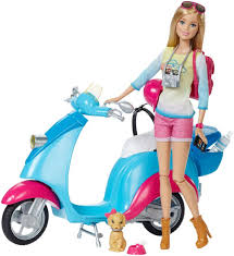 barbie cars with back seats barbie pink passport travel doll with scooter toys