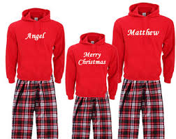 family pajamas santa claus mrs claus