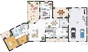 plan de maison en l avec 4 chambres plan maison 4 chambres avec suite parentale