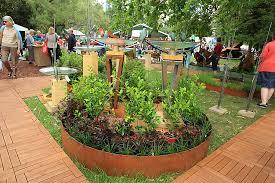 Landscape Edging Metal by Corten Edging And Statues Melbourne Flower Show 2013 20 Garden