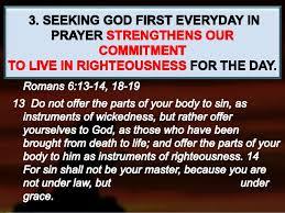 Seeking Text Message June 5 2016 Sunday Message Seeking God Everyday In Prayer