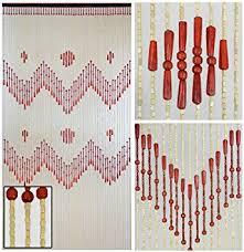 Amazon Beaded Curtains Amazon Com Beadedstring 52 Strands Natural Wood Beaded Curtain 77
