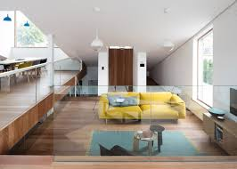 Living Room Decorating Ideas Split Level Sloped Green Roof Covers Split Level Home
