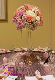 tall centerpiece with roses spray roses baby u0027s breath hydrangea