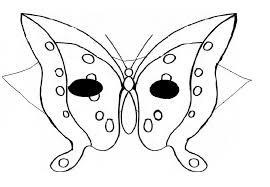 masques masque de papillon à colorier