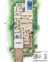 Lake Home Plans Narrow Lot Plan 66295we Marvelous In Law Suite Beach House Plans House