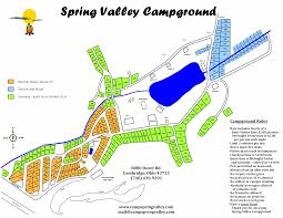 Ohio Valley Map by Spring Valley Campground Cambridge Ohio