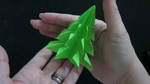 kirigami origami christmas tree youtube