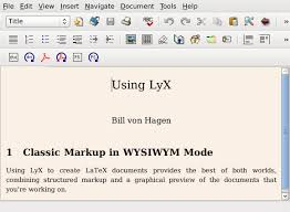 create latex documents graphically with lyx