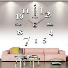 Grande Horloge Murale Design Pas Cher 12 Avec Pas Cher Nouveau Bricolage 3d Accueil Décoration Horloge Murale