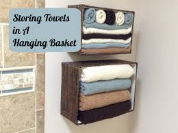 hanging bathroom baskets