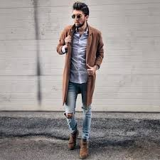 what to wear with light brown boots how to wear light blue jeans with dark brown boots men s fashion