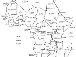 Africa Map Rivers Printable Blank Africa Map Printable Diagram