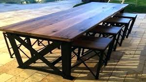 reclaimed wood outdoor table reclaimed wood outdoor dining table goodna info
