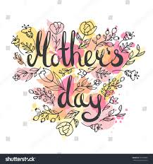 mothers day lettering card modern calligraphy stock vector