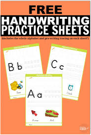 free printable handwriting worksheets including pre writing
