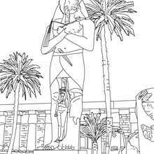 monuments ancient egypt coloring pages coloring pages