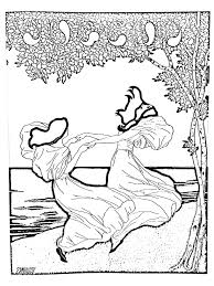 art nouveau from lithography by ludwig von zumbush 1900