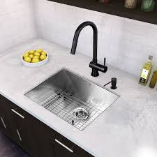 vigo gramercy single handle pull down kitchen faucet matte black