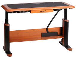 wellston executive sit stand desk full size caretta workspace