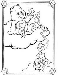 care bears coloring 80 u0027s themed birthday