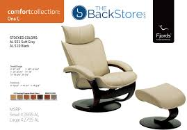 Office Chair And Ottoman Fjords Ona Ergonomic Leather Recliner Chair Ottoman Scandinavian