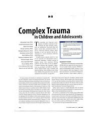 complex trauma in children and adolescents pdf download available
