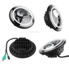 halo jeep wrangler best 40w cree 7 inch round led headlight amber white switchback