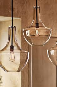 Three Pendant Light Fixture Three Glass Pendant Lighting Latern L Transparant Glass With