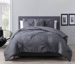 Grey Comforter Sets King 4 Piece Paige Charcoal Gray Comforter Set