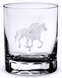 barware sets at the track engraved crystal barware sets equine luxuries