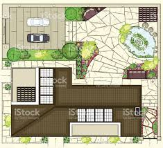 colorful birds eye view of house layout stock vector art 472284177