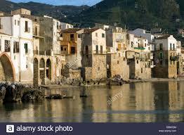 Moorish Architecture Old Port Mt La Rocca Beach Moorish Architecture Town Of Cefalu