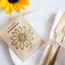 seed favors 10 personalised sunflower seed packet favours by wedding in a