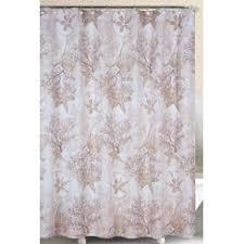 otc seashell sea shell beach shower curtain bathroom