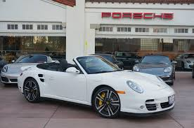 white porsche 911 convertible 2012 porsche 911 turbo s cabriolet white on black in los angeles