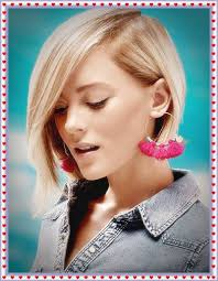 hair style for women with one side of head shaved alluring one side long short bob hairstyles for blonde women 2018
