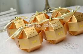 Wedding Wishing Box Aliexpress Com Buy 100pcs Lot Gold Unique Ball Candy Box Diy
