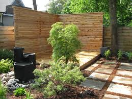 Backyard Privacy Screen Ideas by Patio Privacy Screen Ideas Landscape Modern With Water Feature