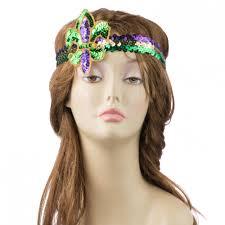 mardi gras headband sequin appliqué mardi gras headband 27887mgaj mardigrasoutlet