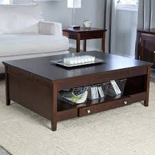 espresso wood coffee table coffee table espresso furniture of wood storage box genoa square